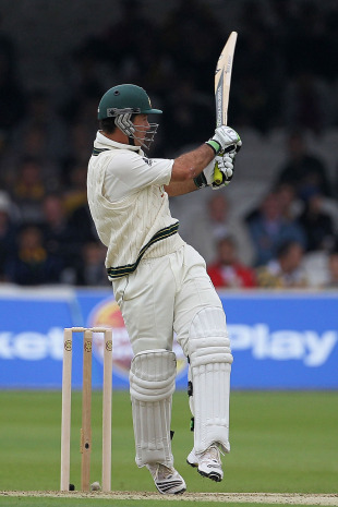 Ricky Ponting battled hard to ensure Australia went to lunch with only one wicket down, Pakistan v Australia, 1st Test, Lord's, July 13, 2010