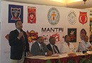 Organisers at the launch of the second season of the Karnataka Premier League, Bangalore, July 13, 2010