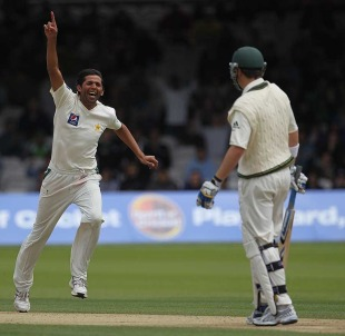 Mohammad Asif found Marcus North's outside edge to give Pakistan hope, Pakistan v Australia, 1st Test, Lord's, July 15, 2010