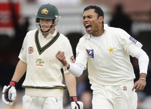 Danish Kaneria removed Steve Smith quickly but Australia built on their lead on day three, Pakistan v Australia, 1st Test, Lord's, July 15, 2010