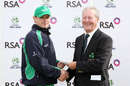 Ireland's William Porterfield collects his Man-of-the-Match award