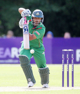 Tamim Iqbal punches the ball down the ground, Ireland v Bangladesh, 2nd ODI, Belfast, July 16, 2010