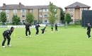 Bangladesh players practice in Glasgow