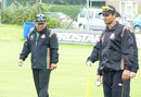 Khaled Mashud and Mashrafe Mortaza at the nets, Glasgow, July 18, 2010