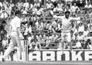 Viv Richards jumps for joy after Glenn Turner is dismissed