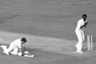Ian Chappell is beaten by Richards' powerful throw