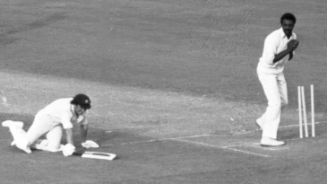 Ian Chappell is run out by Clive Lloyd in the World Cup final