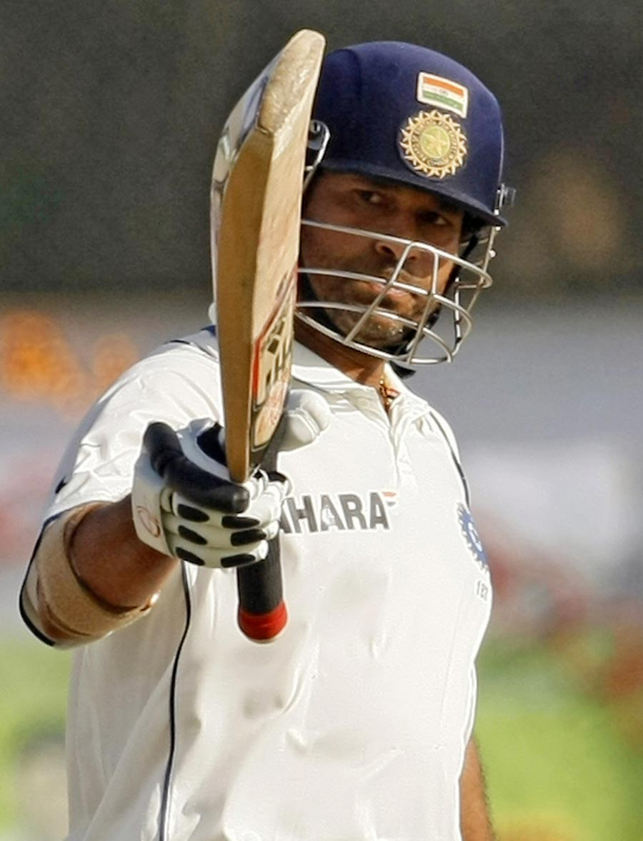 Sachin Tendulkar signals yet another Test half-century