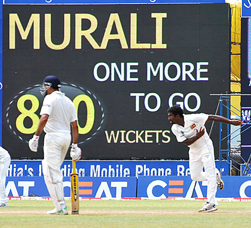 Muttiah Muralitharan was stuck on 799 wickets for a long time