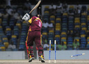 Wilden Cornwall of Leeward is bowled first ball by Krishmar Santokie of Jamaica, Jamaica v Leeward Islands, Caribbean T20, 2nd match, July 22, 2010
