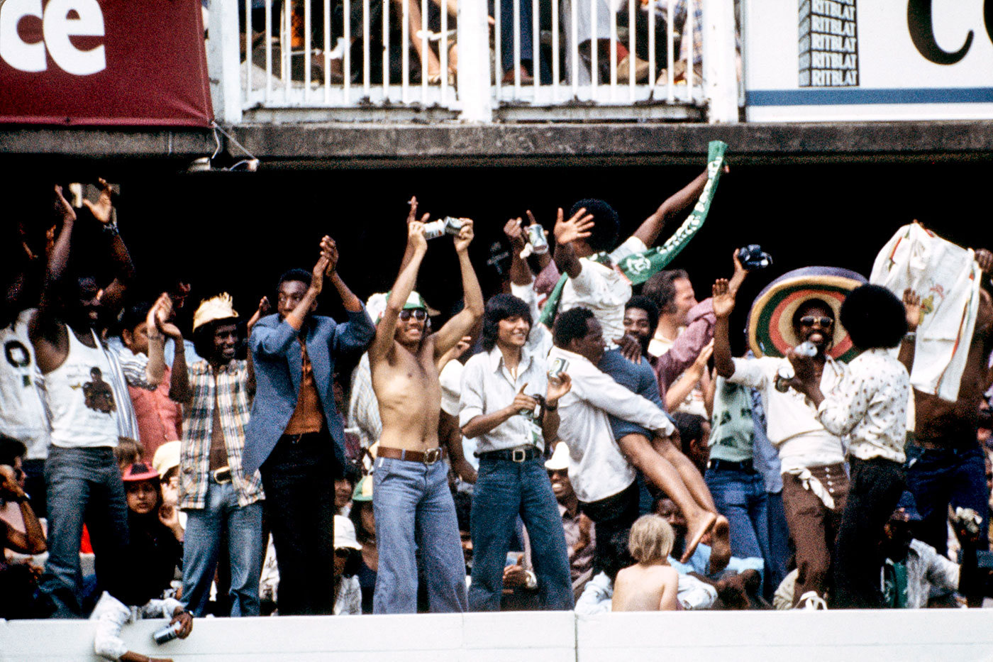Happy days: the 1975 World Cup is remembered as much for the unrestrained celebrations of the West Indian immigrants at Lord's and The Oval as for the heroics of the team they supported