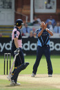 Ajmal Shahzad takes the return catch to dismiss Shaun Udal, Middlesex v Yorkshire, Clydesdale Bank 40, Lord's, July 25, 2010