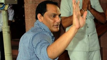 Former Indian captain and current MP Mohammad Azharuddin arrives for the monsoon session of the parliament