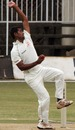 Murtuja Vahora in his bowling stride, Kenya v Baroda Cricket Association XI, three-day match, Nairobi, 2nd day, July 24, 2010