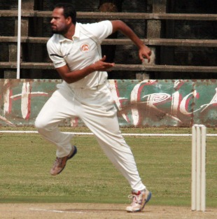 Yusuf Pathan sends down a delivery