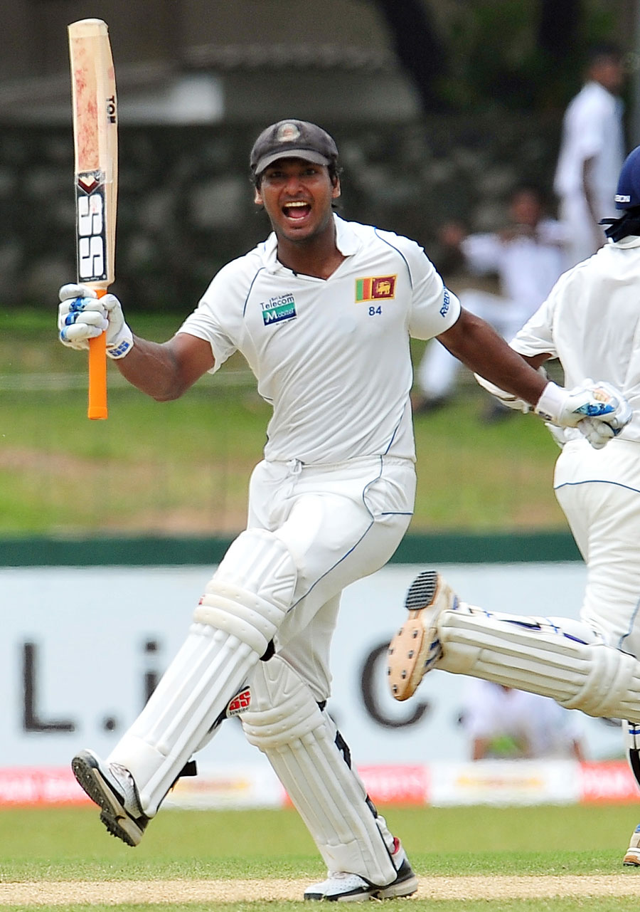 Kumar Sangakkara brings up his seventh double-century