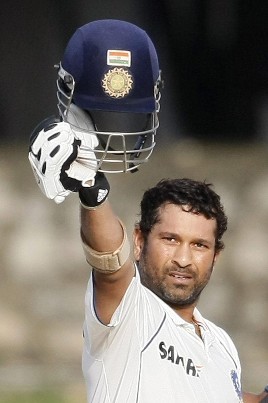 Sachin Tendulkar signals century No. 48