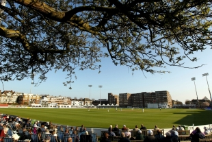 A general view of the playing area at the County Ground in Hove