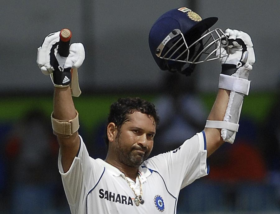 Sachin Tendulkar reached his fifth double-century in Tests