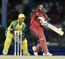 Darren Bravo goes for the big hit, Jamaica v Trinidad & Tobago, Caribbean T20, July 28, 2010