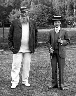 WG Grace with the Prince of Wales, 1911