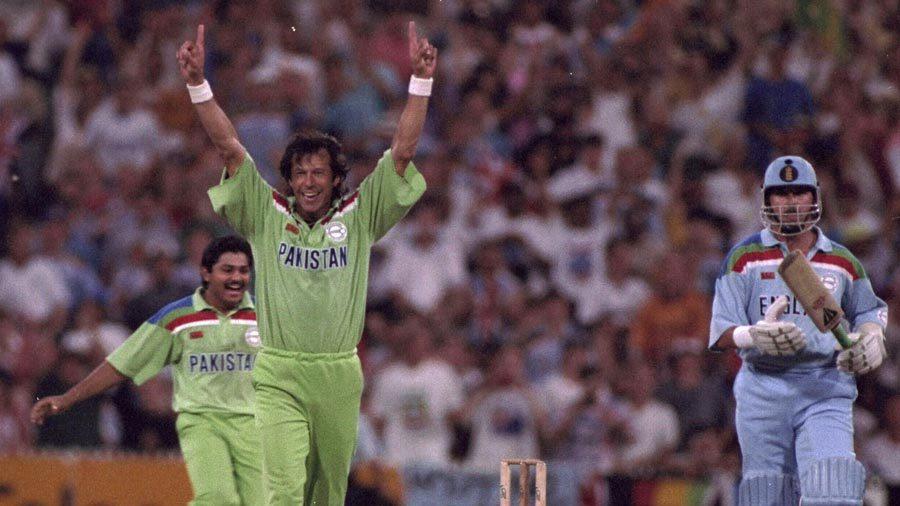 Imran Khan celebrates a wicket
