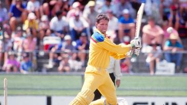 Dean Jones cuts against India