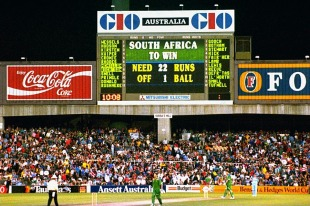 The scoreboard wasn't entirely correct, but that didn't make South Africa's task any less impossible