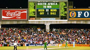 The scoreboard reveals South Africa's impossible task