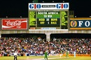The scoreboard reveals South Africa's impossible task, England v South Africa, World Cup semi-final, Sydney, March 22, 1992