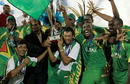 Guyana celebrate with the Caribbean T20 trophy, Barbados v Guyana, Caribbean T20 final, Port of Spain, July 31, 2010