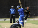 Daryl Tuffey hits Mahela Udawatte's stumps, Sri Lanka Board President's XI v New Zealand, Tour match, SSC, August 4, 2010