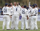 Andy Carter picked up both Warwickshire openers in his first spell
