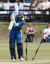 Bhanuka Rajapaksa was bowled for 11 by Lewis Gregory as Sri Lanka's top order struggled, England Under-19 v Sri Lanka Under-19, 1st ODI, Cambridge, August 7, 2010