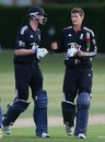 David Payne and Luke Wells sealed a tense, three-wicket win in the final over, England Under-19 v Sri Lanka Under-19, 1st ODI, Cambridge, August 7, 2010