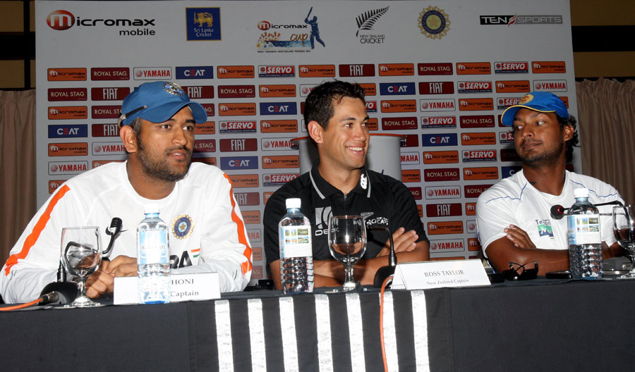 The three captains address the media on the eve of the tri-series