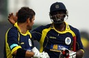 Neil McKenzie and Michael Carberry celebrate Hampshire's win, Hampshire v Essex, 1st semi-final, Friends Provident t20, Rose Bowl, August 14, 2010