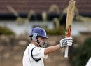 Ewan Chalmers made a fighting half-century but it was in vain, Scotland v Afghanistan, Intercontinental Cup, Ayr, 4th day, August 14, 2010
