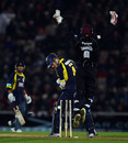 Arul Suppiah bowled Jimmy Adams as Somerset fought back