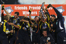 Hampshire celebrate after being named Friends Provident t20 champions , Hampshire v Somerset, FP t20 Final, Rose Bowl, August 14 2010