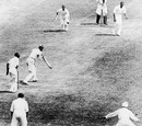Douglas Jardine edges a ball from Amar Singh past slips, England v India, Only Test, Lord's, 3rd day, June 28, 1932