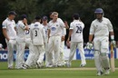 Luke Wright snared Derbyshire captain Greg Smith for 9 as the top order struggled