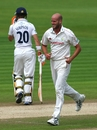 David Harrison removed John Simpson early, Glamorgan v Middlesex, County Championship Division Two, Cardiff, August 18 2010