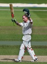Alexei Kervezee celebrates his fine hundred as Worcestershire's lead grew
