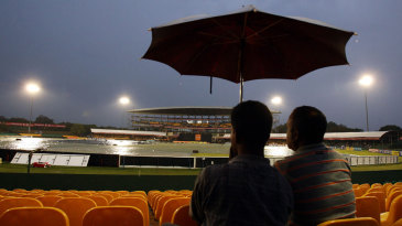 Persistent rains ensured the covers stayed on into the evening