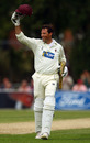 Marcus Trescothick acknowledges the applause after reaching his century from 126 balls