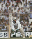 Syed Kirmani waits to collect the ball, India v England, 1st Test, Bombay, 3rd day, December 1, 1984