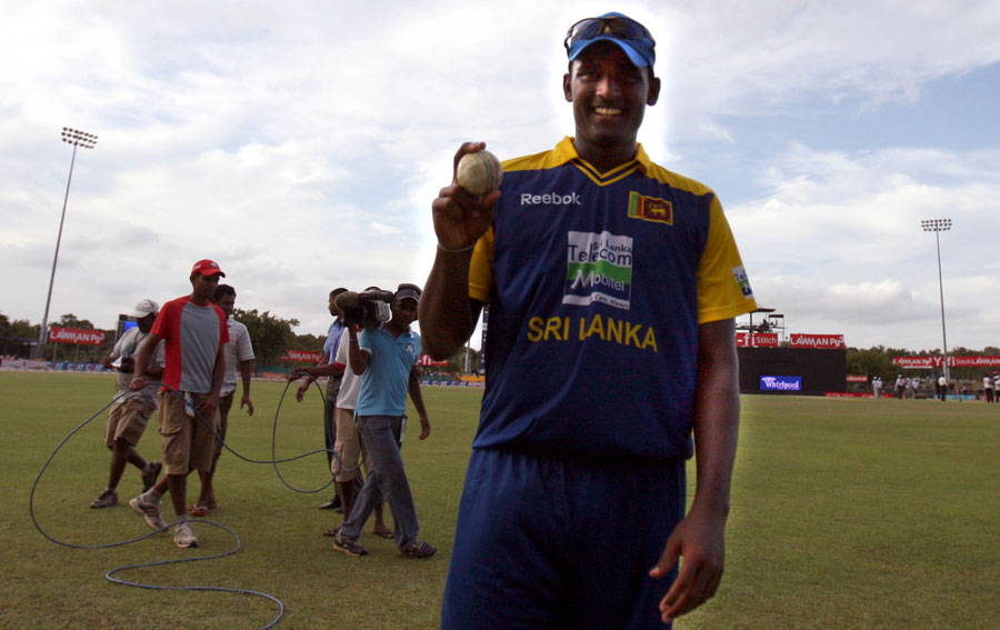 Thisara Perera picked up his maiden five-wicket haul