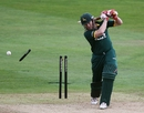 Ali Brown had his off stump removed by Azhar Mahmood as Kent romped to a 42-run win over Nottinghamshire, Kent v Nottinghamshire, Clydesdale Bank 40, Canterbury, August 22 2010