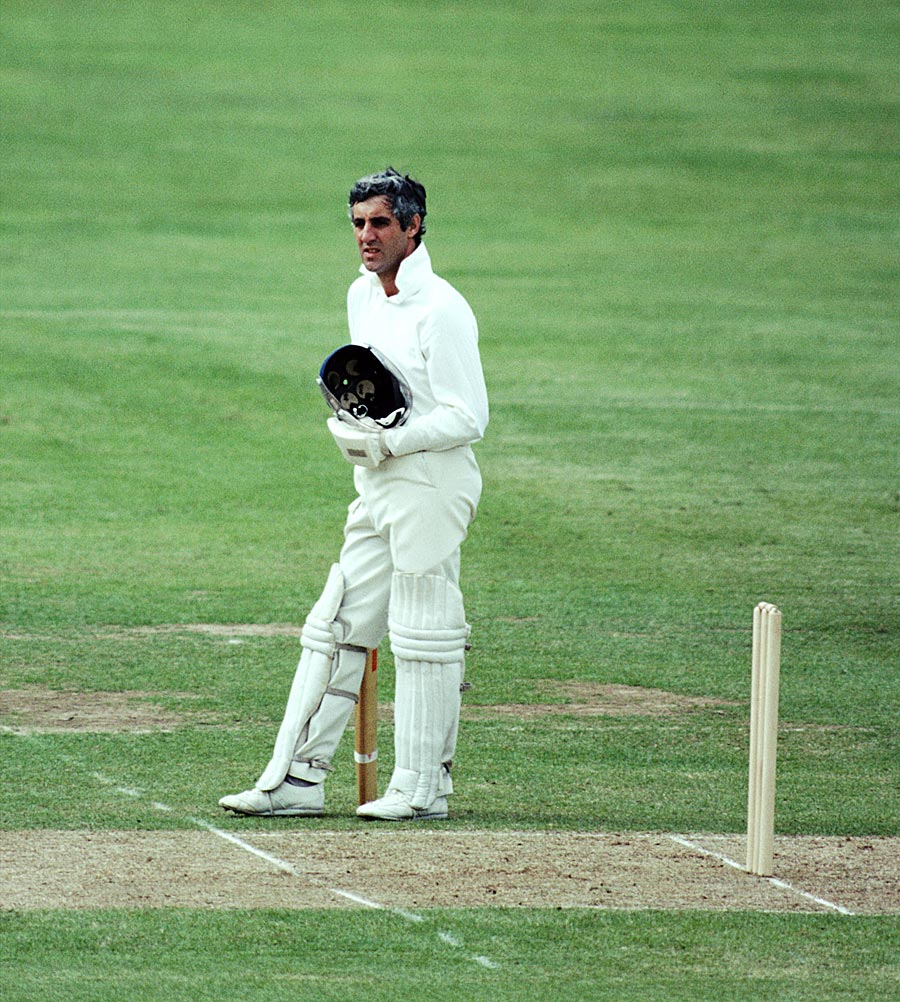 Mike Brearley looks on